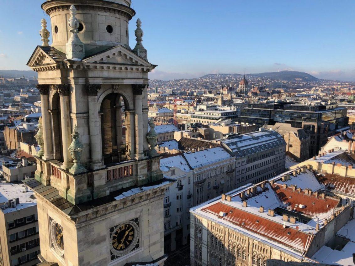 La vue depuis la basilique Saint Etienne à Budapest