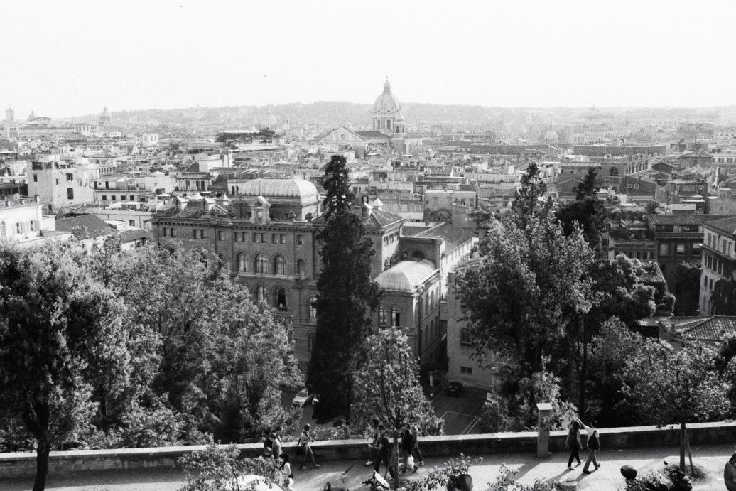 La vue depuis la villa de Medicis