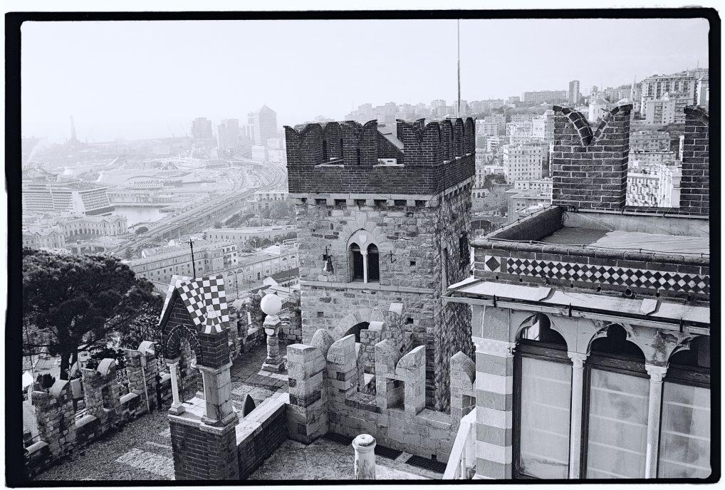 La vue sur Gênes depuis le château Albertis