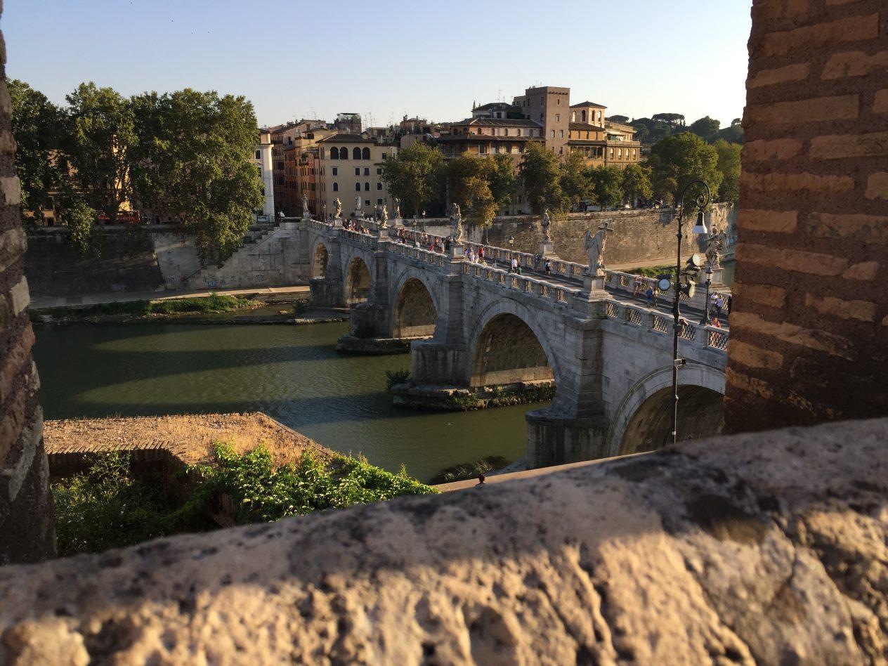 Le Tibre et le pont Saint-Ange, lors d'une escale à Rome