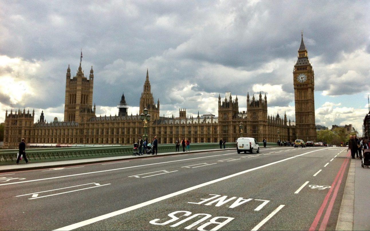 Le palais de Westminster à Londres
