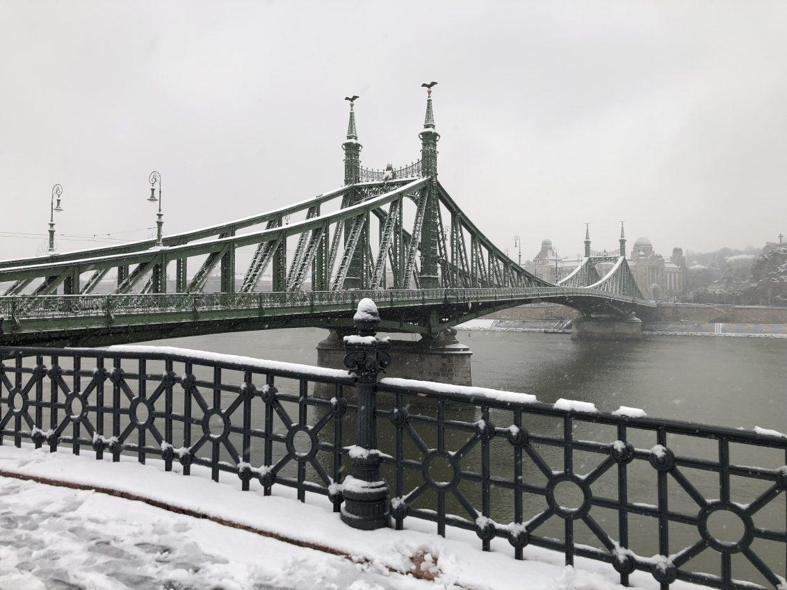 Le pont de la Liberté de Budapest. photo Yann Vernerie