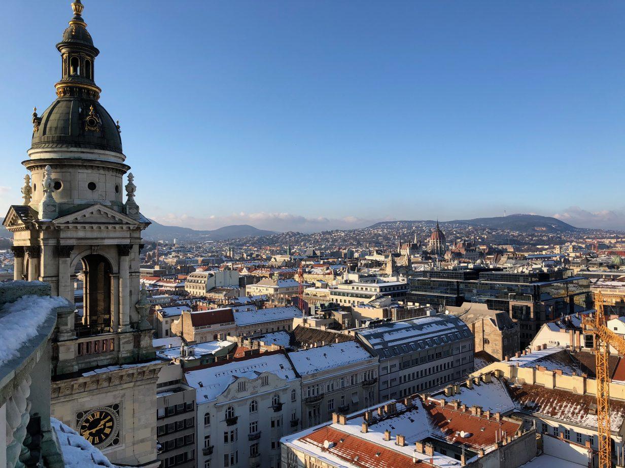 L'une des plus belles vues depuis le sommet de la Basilique Saint Etienne