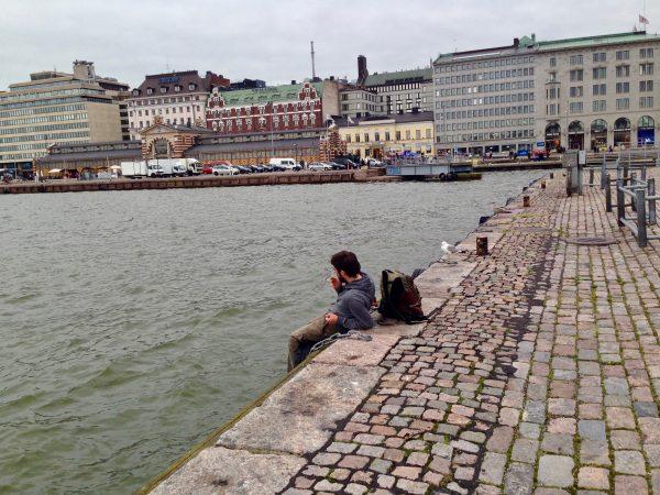Sur les quais du port Sud d'Helsinki