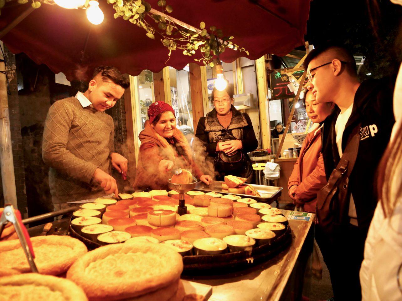 Un stand sur le marché dans le quartier musulman de Xi'an