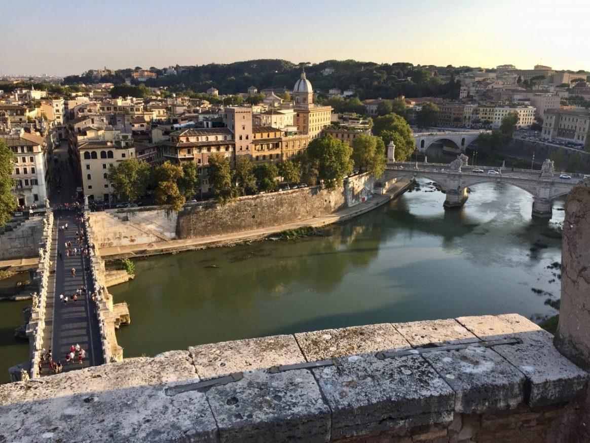 Une vue depuis le château Saint Ange à Rome