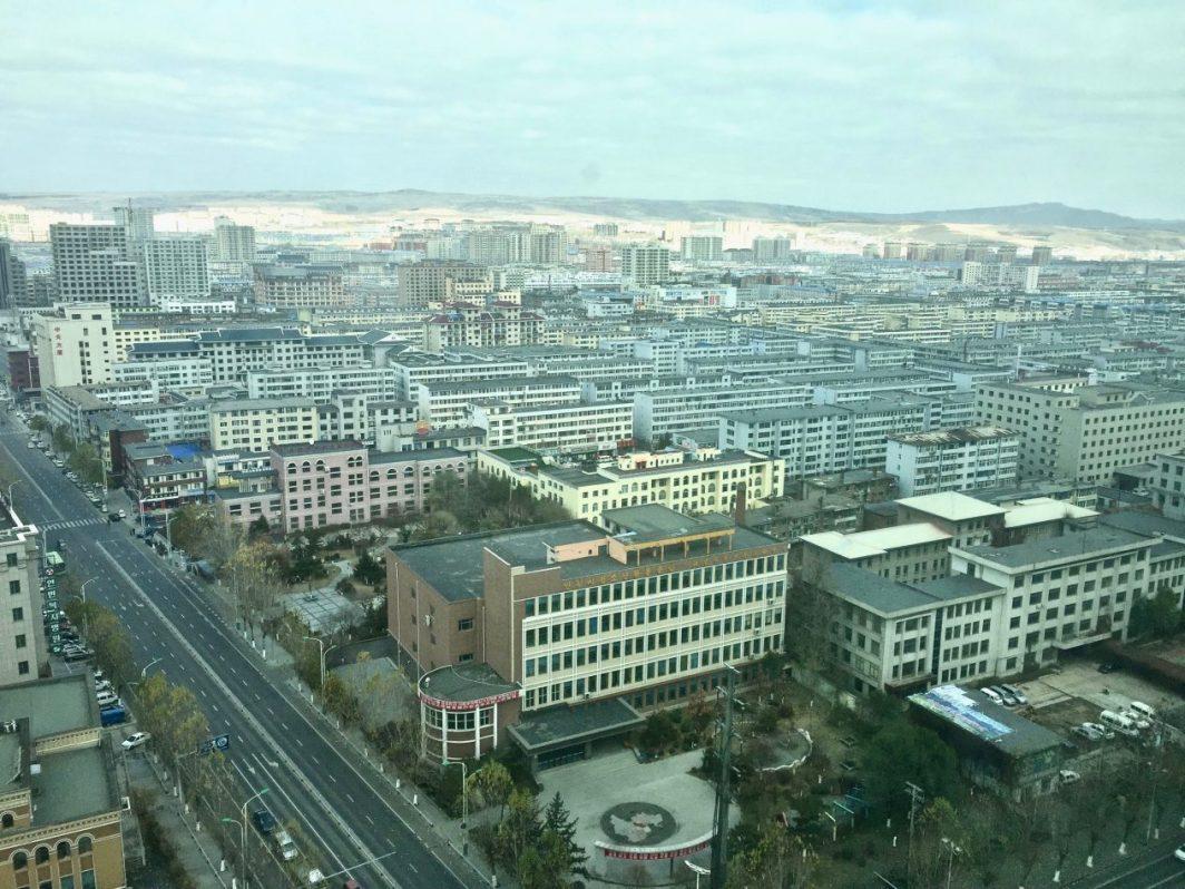 Une vue sur la ville de Yanji