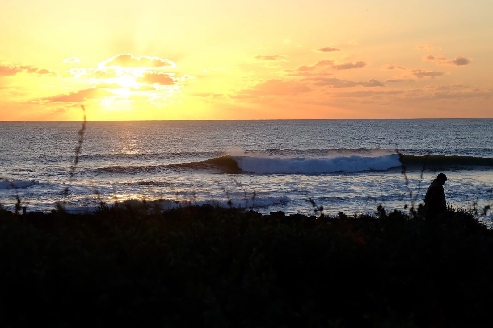 Ce jour là les belles vagues ont déroulé toute la journée sans discontinuer
