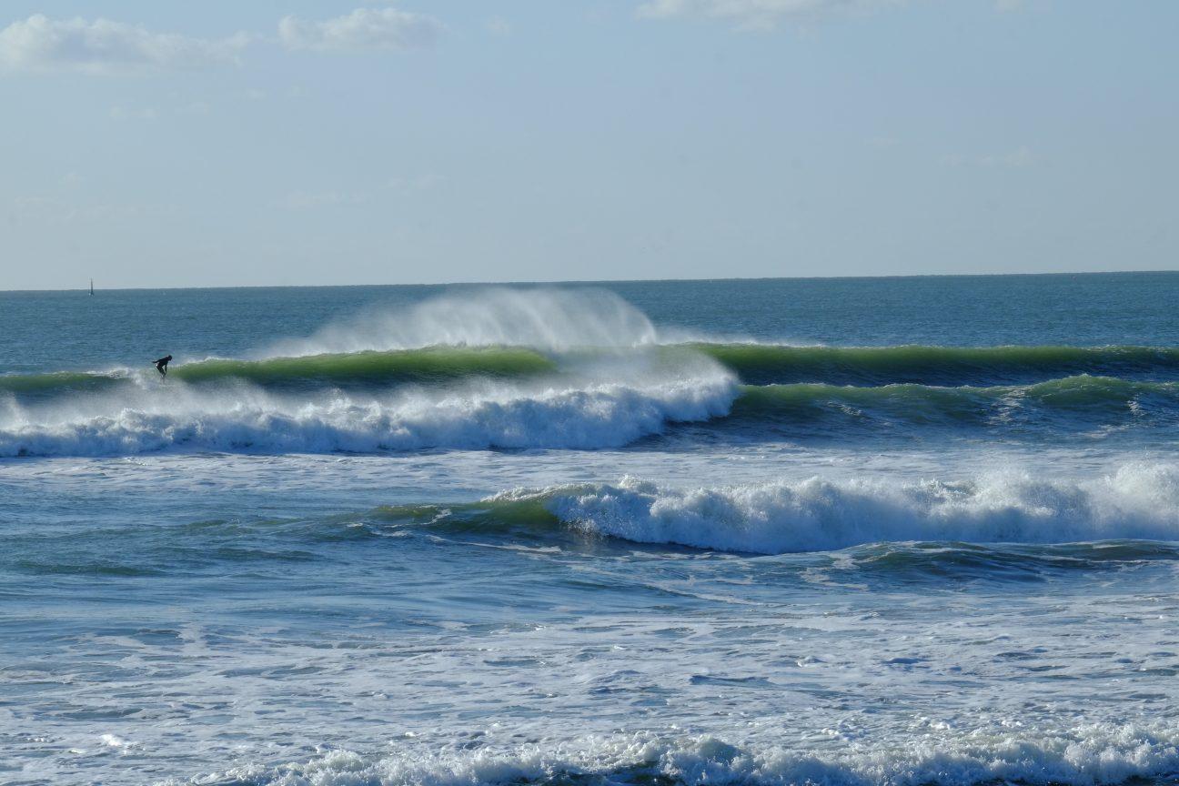 De belles vagues, assez violentes, fin octobre 2020