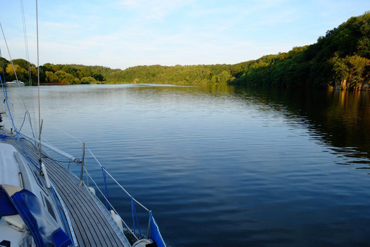 En navigation sur la Vilaine dans le sud du département