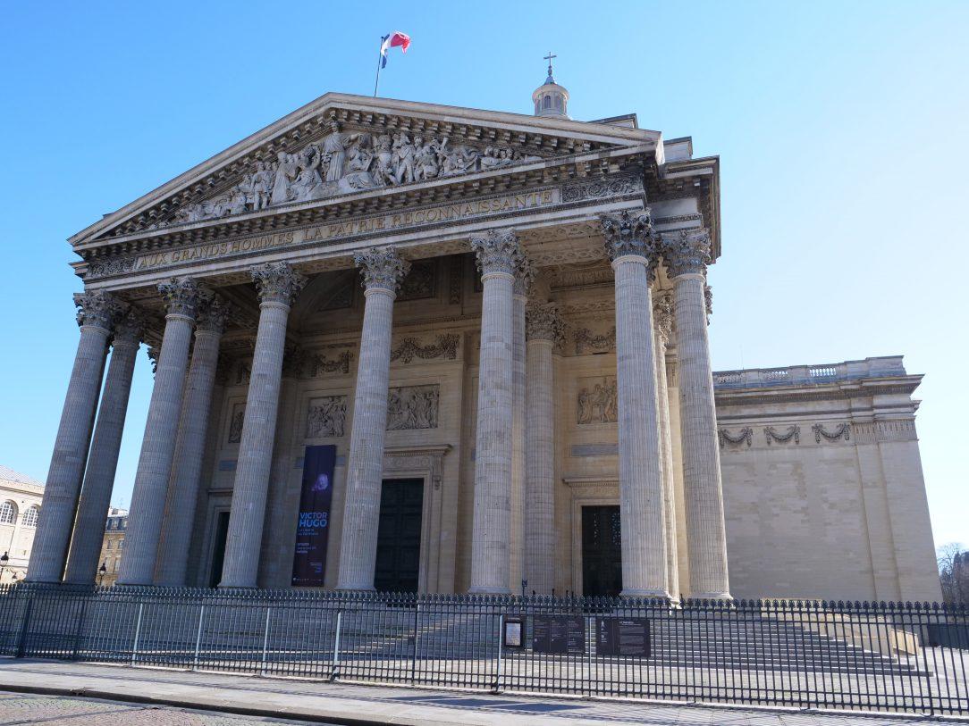 La façade du Panthéon une église reconvertie en cimetière républicain