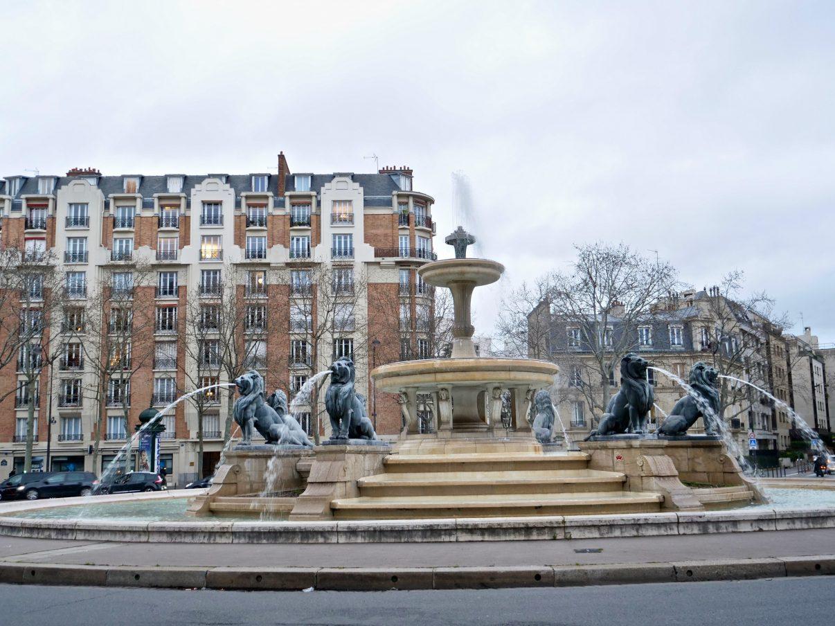 La place Daumesnil dans le 12 ème arrondissement de Paris