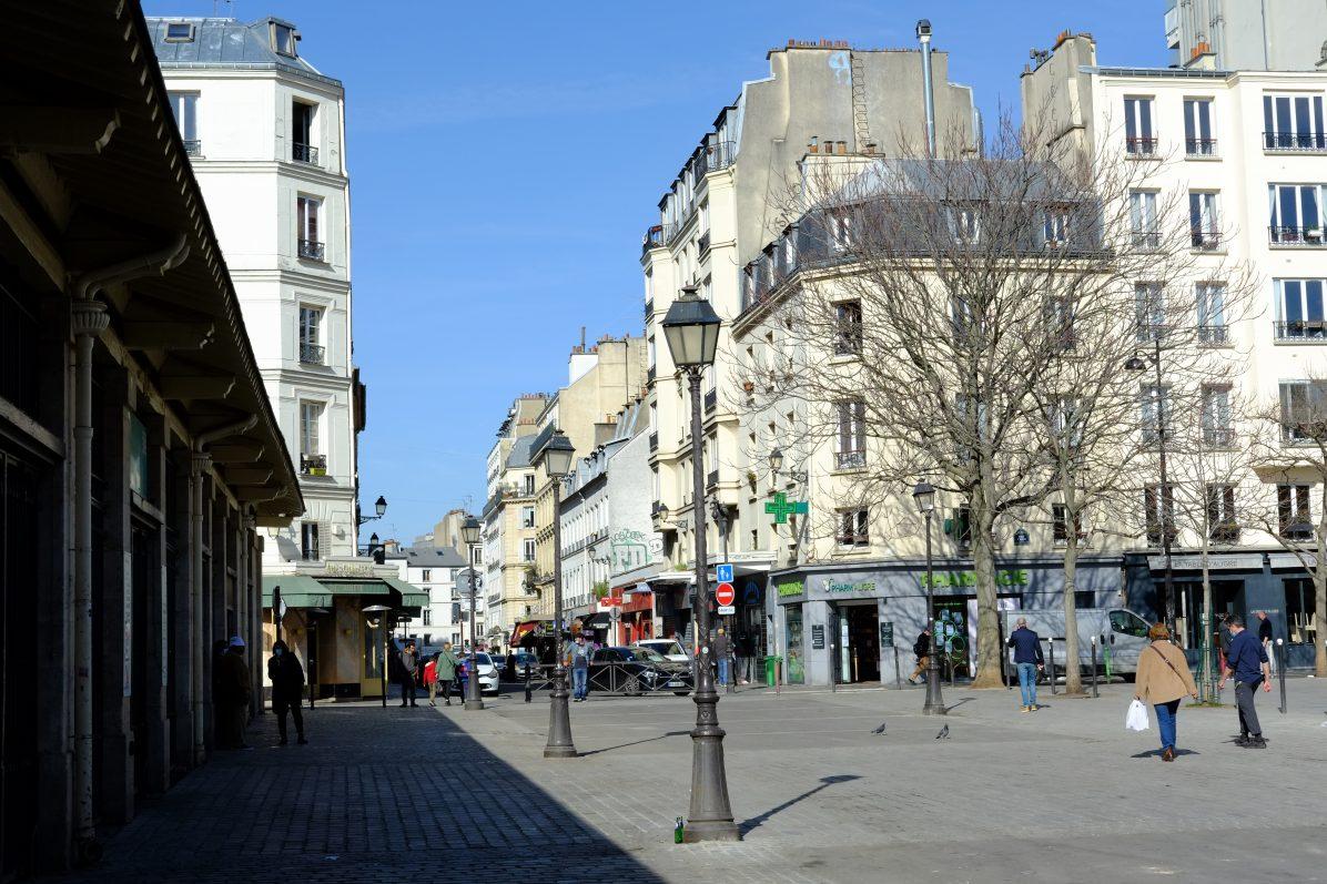 La place d'Aligre dans le 12 ème arrondissement