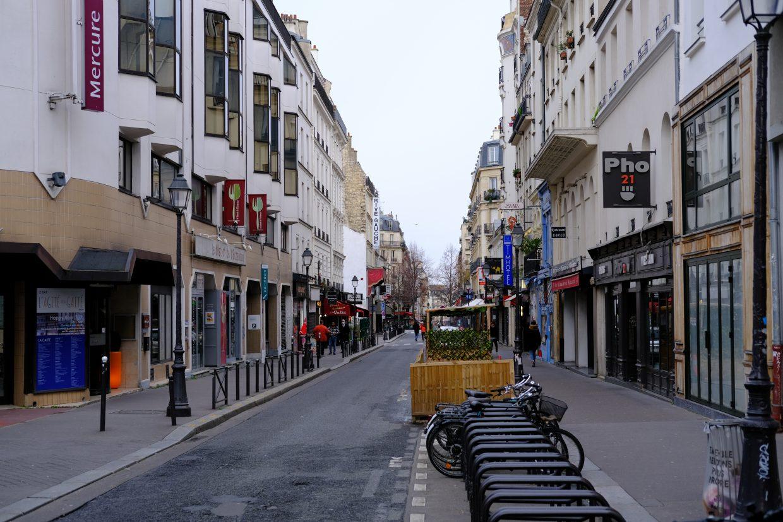 La rue de la Gaité dans le 14 ème arrondissement de Paris