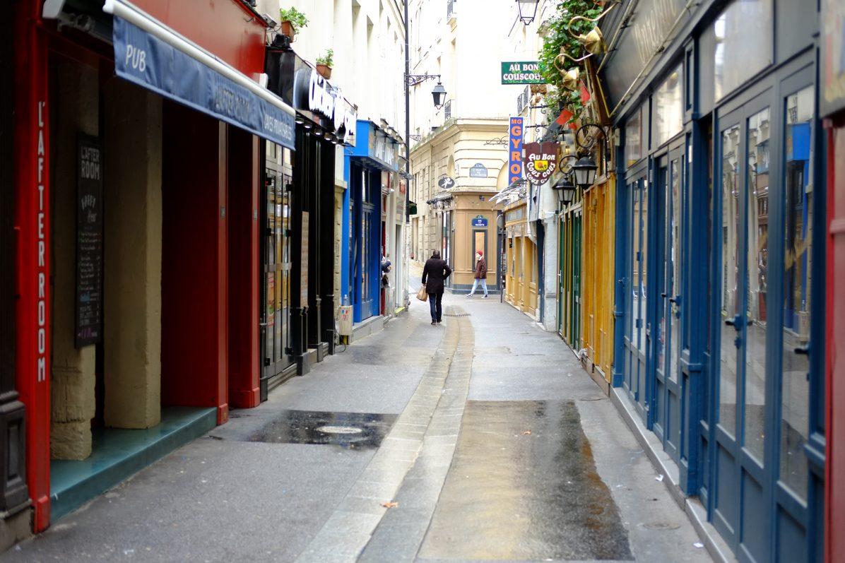 La rue de la Huchette toute proche des quais de Seine