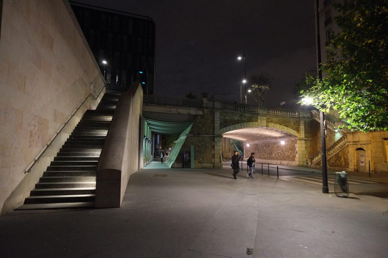 La rue du Chevaleret pendant la nuit
