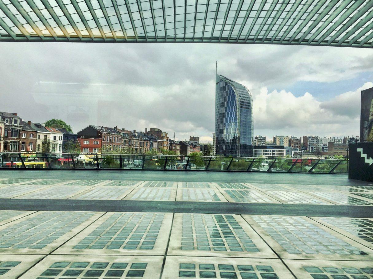 La vue sur Liège depuis la gare