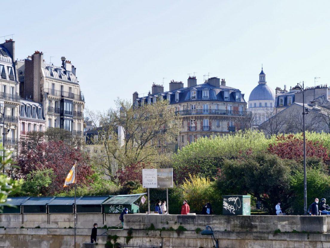Le 5 ème arrondissement de Paris depuis l'île de la Cité