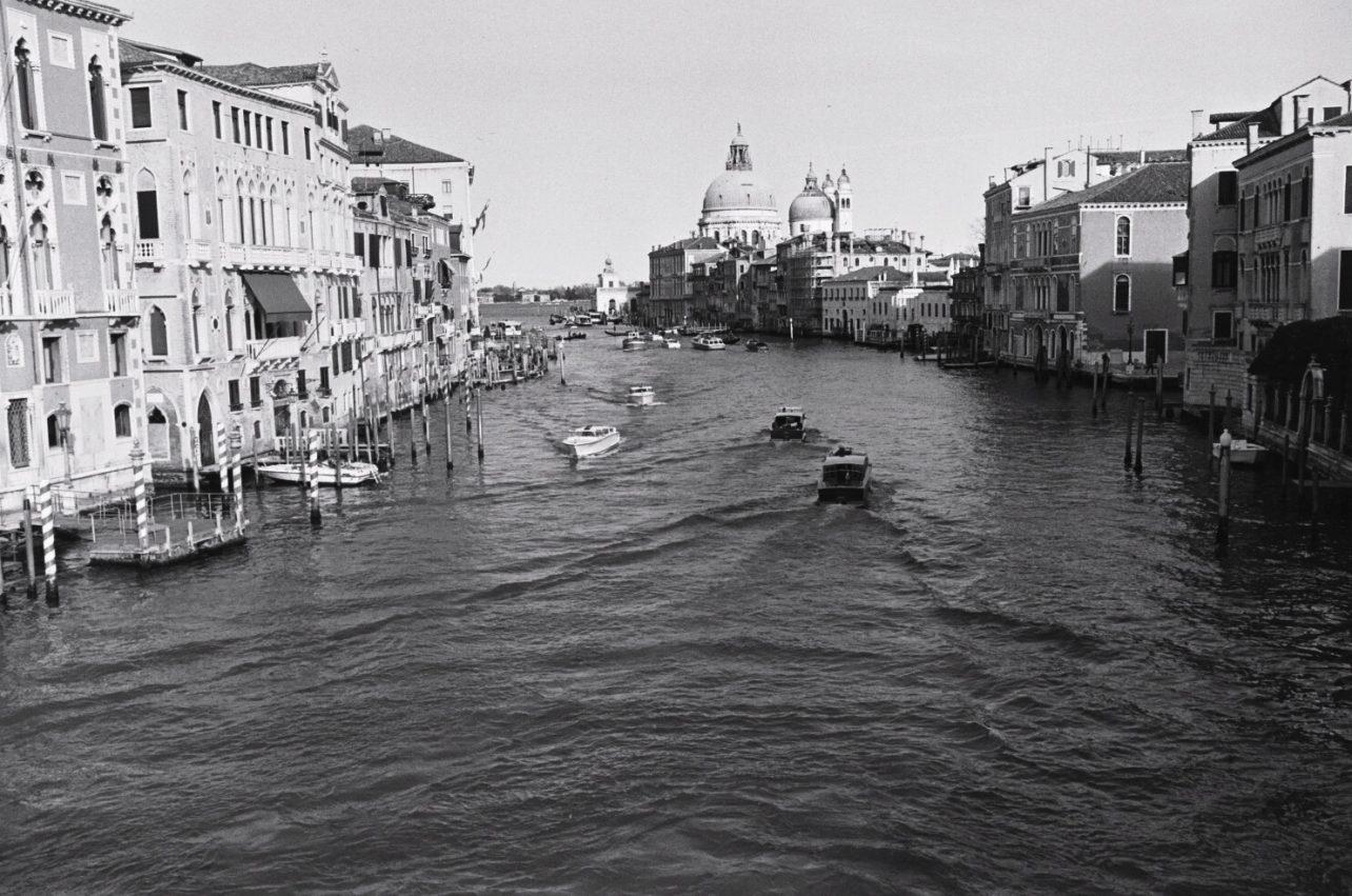 Le Grand Canal, Venise en noir et blanc