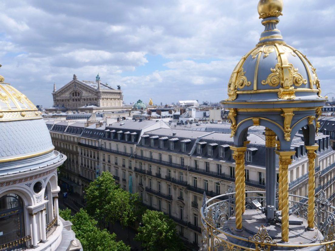 Le boulevard Haussmann vue depuis les toits du Printemps