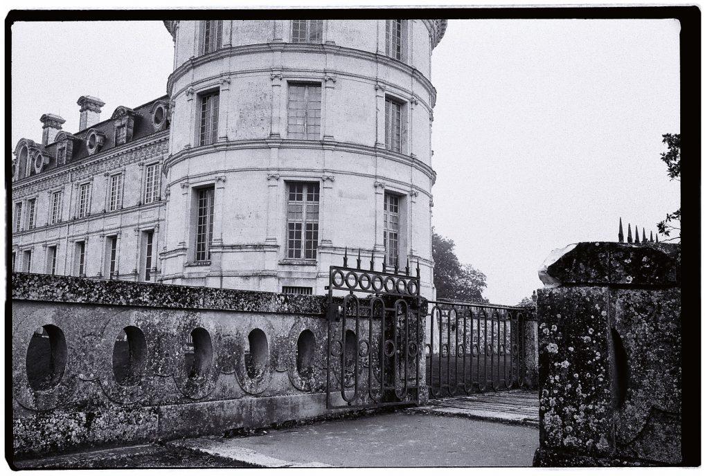 Le château de Valençay en noir et blanc