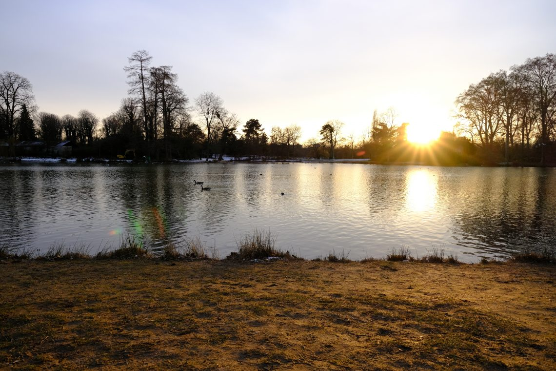 Le lac Daumesnil au bord du bois de Vincennes