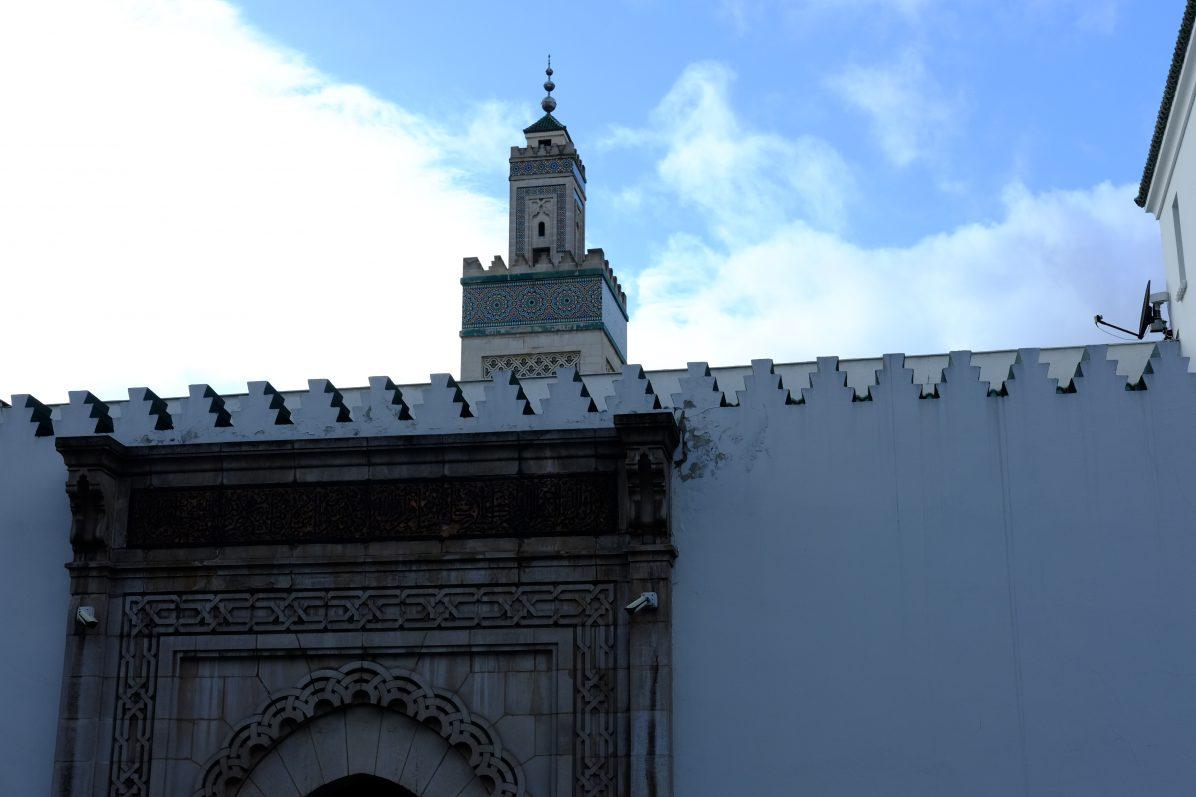 Le minaret de la Grande Mosquée de Paris
