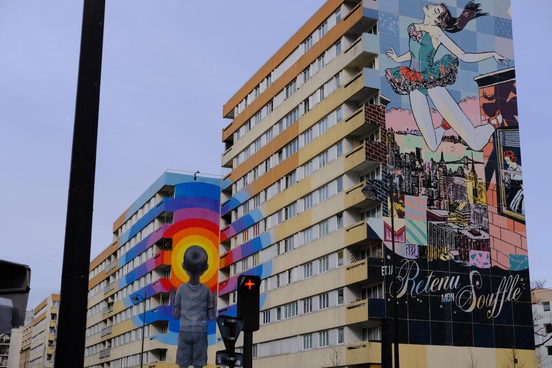 Les immenses fresques du treizième arrondissement de Paris