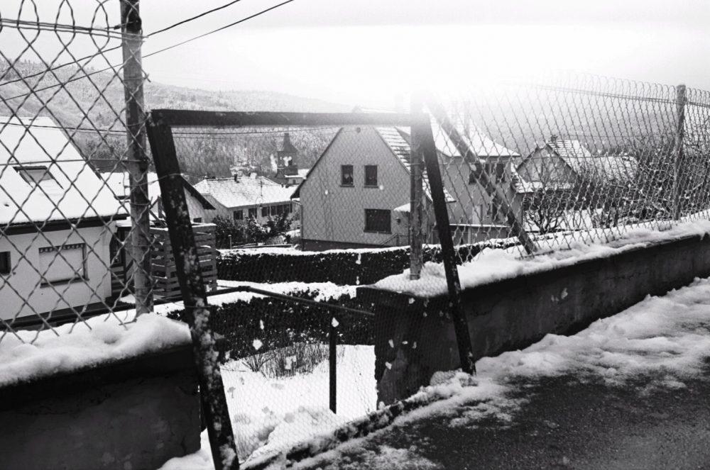 Un jour de neige en Alsace dans le département du Bas Rhin