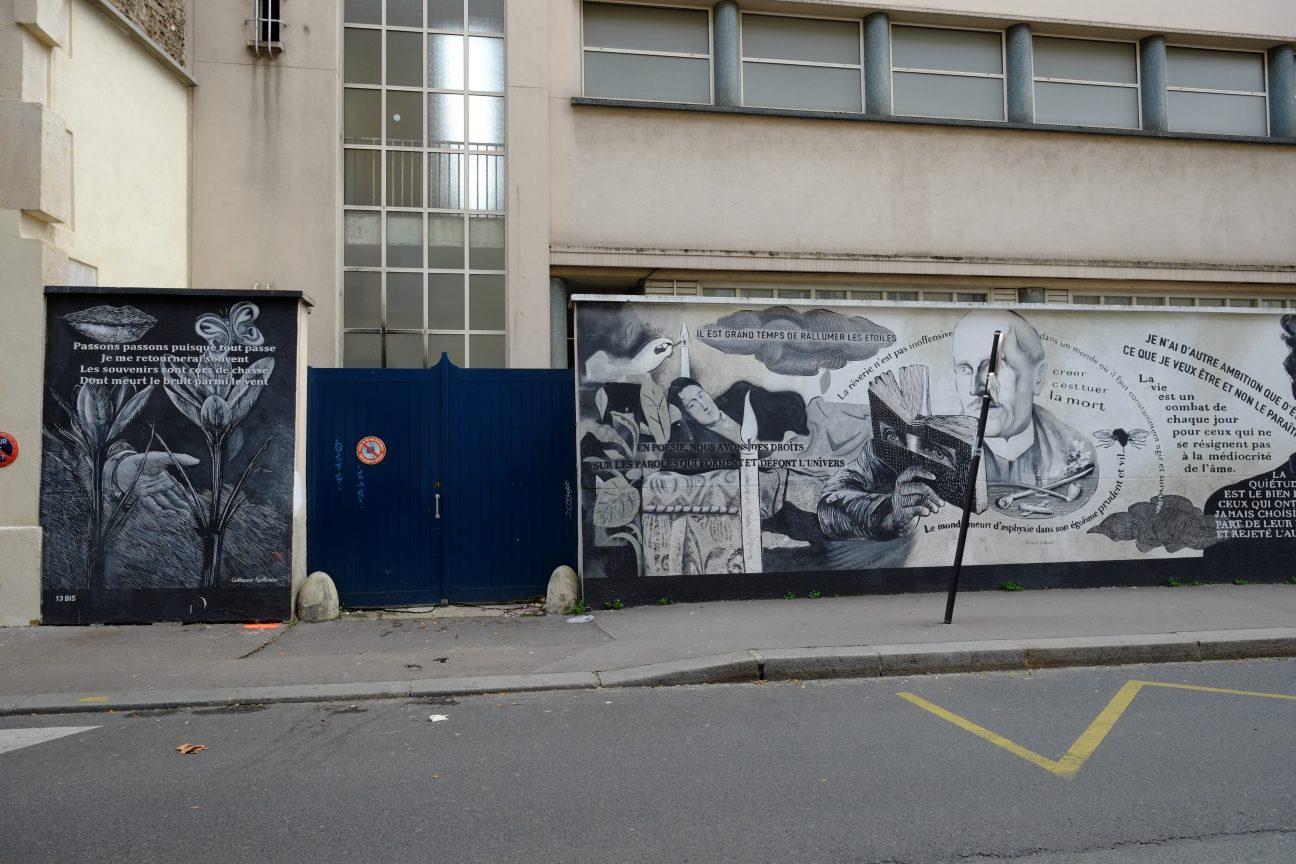 Une fresque rue Didot à Paris