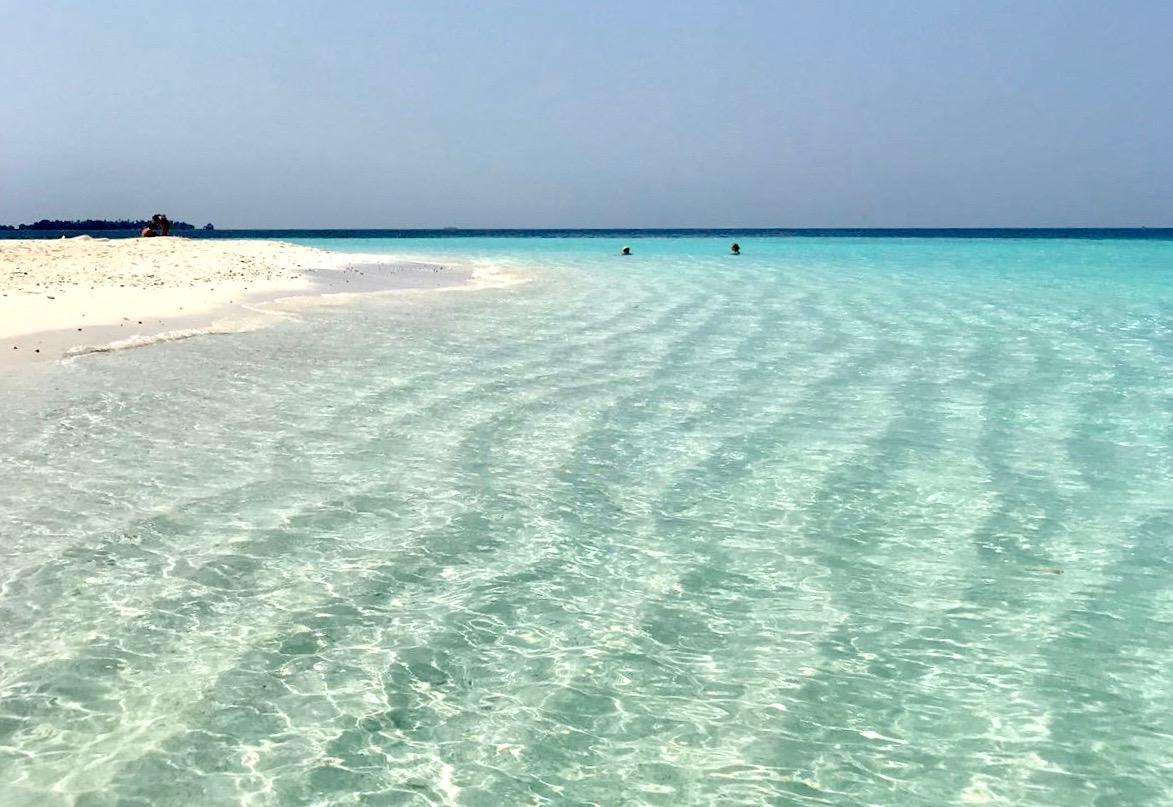 Une plage comme tant d'autre sur l'archipel des Maldives