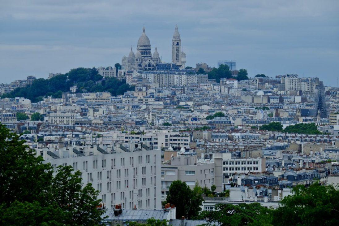 Une vue de la célèbre butte Montmartre