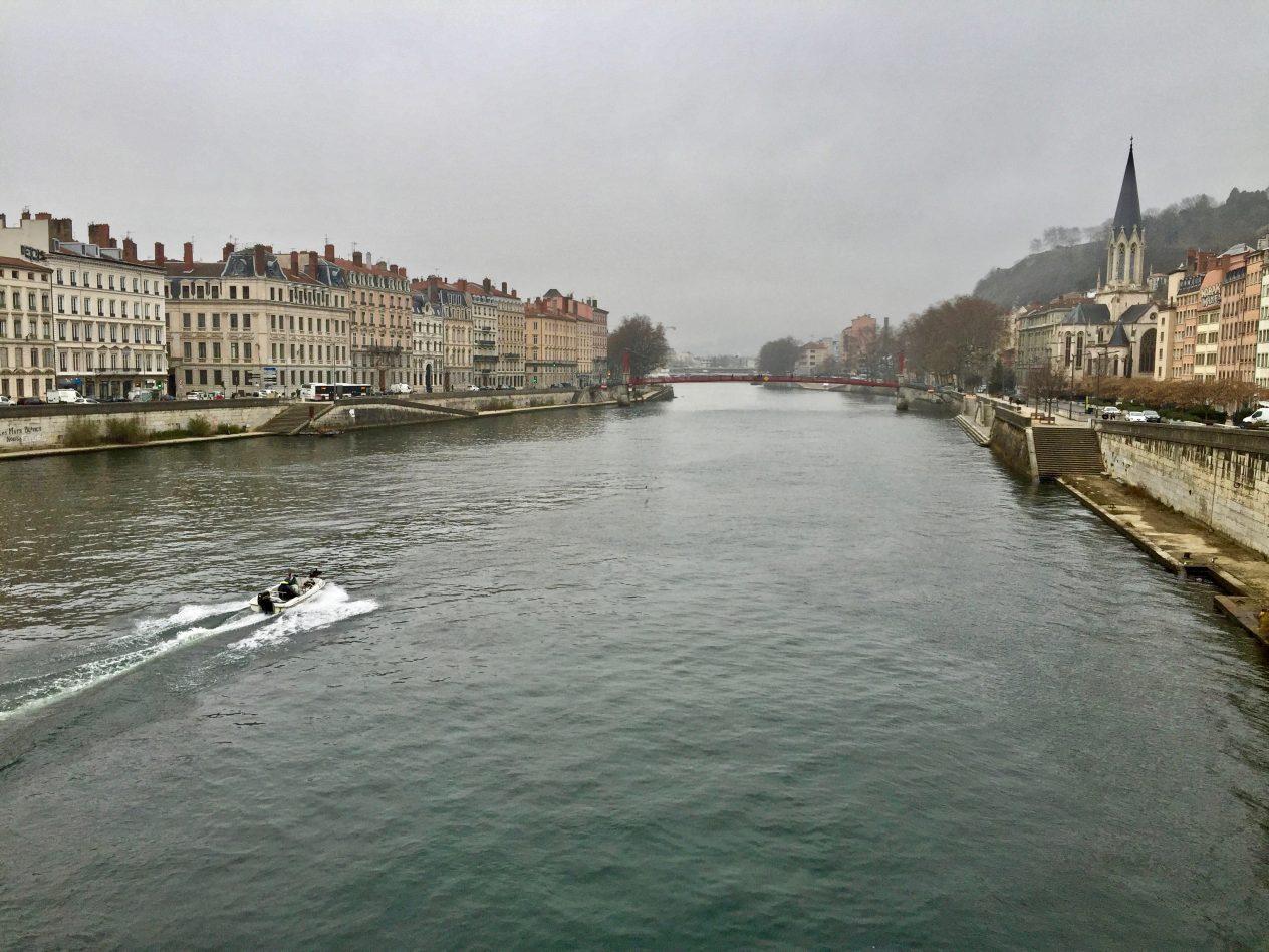 Une vue sur Lyon l'une des villes les plus visitées de France