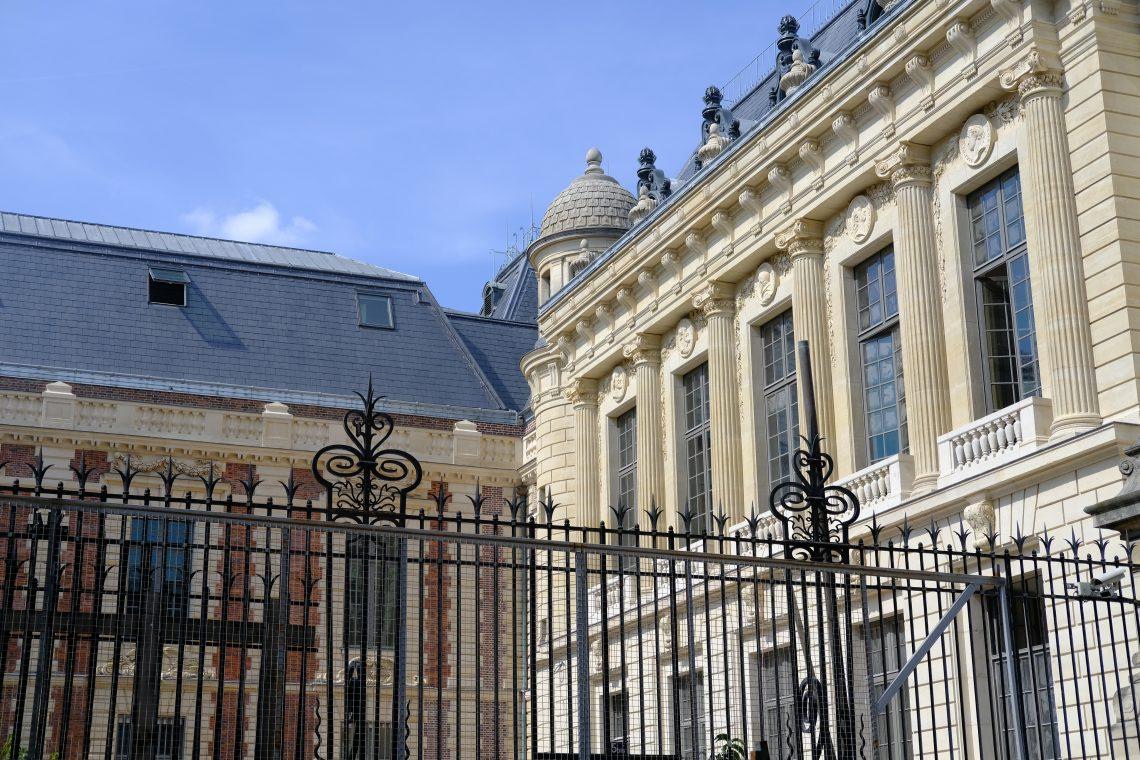 La façade de la Bibliothèque Nationale, site Richelieu Louvois