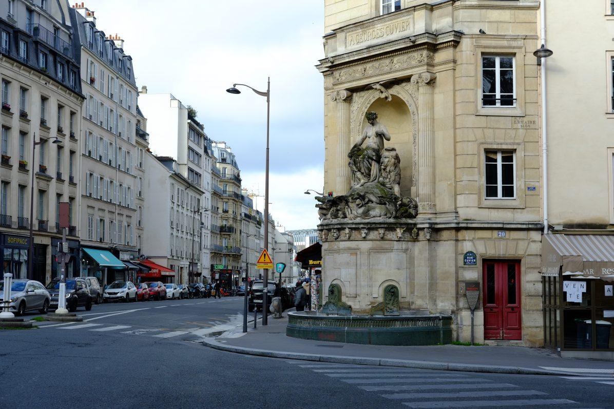 La fontaine Georges Cuvier dans le 5 ème