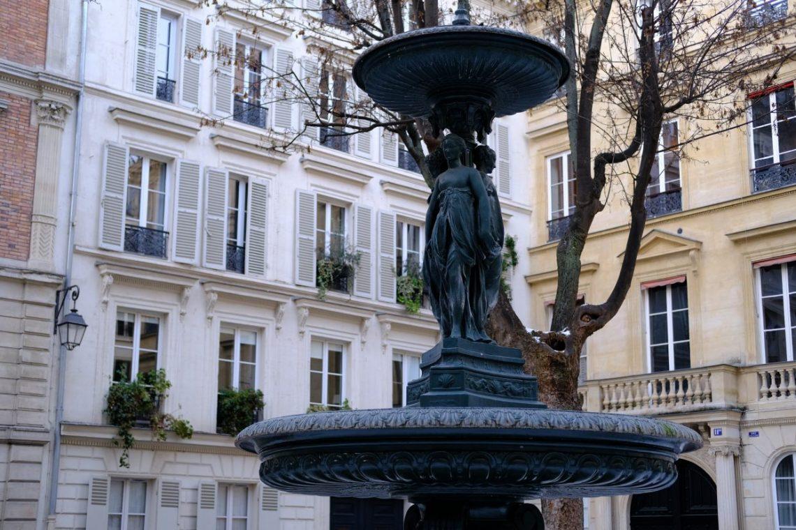 La fontaine de la cité de Trévise