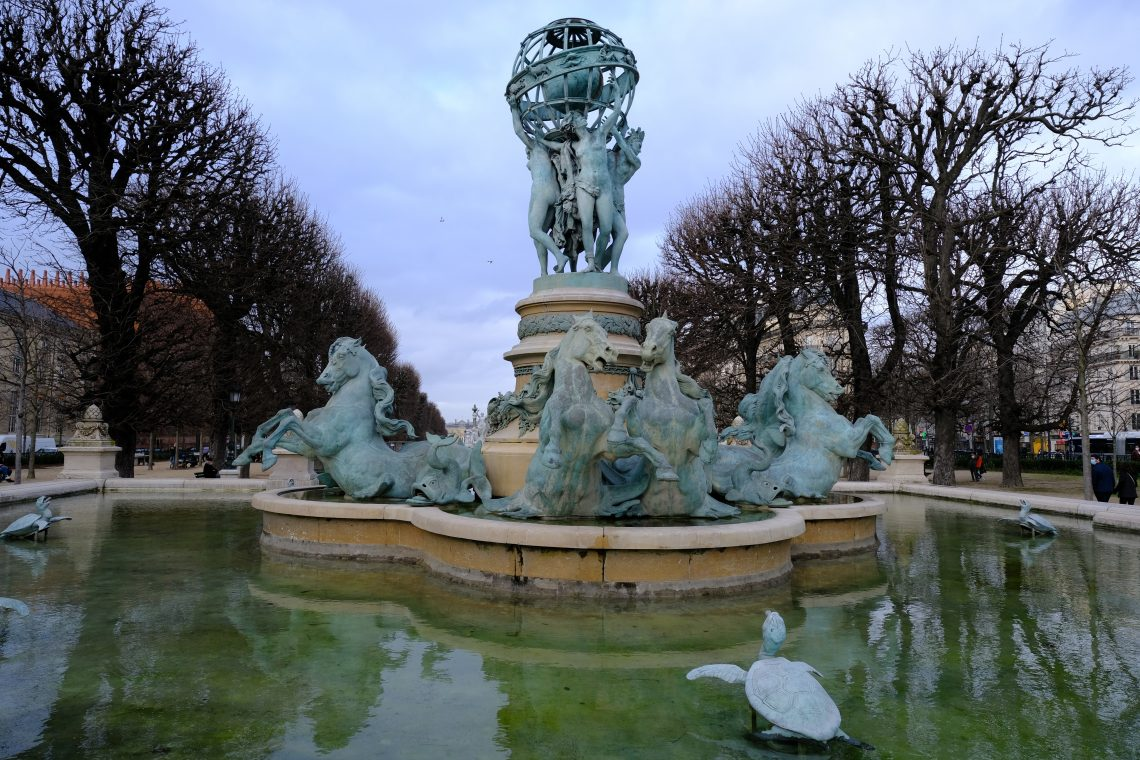 La fontaine des quatre parties du monde dans le 6 ème arrondissement de Paris
