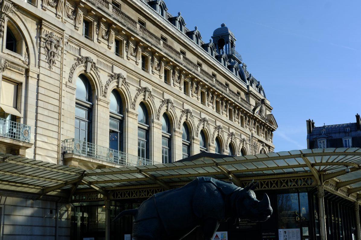 La jolie façade du Musée d'Orsay anciennement gare Paris Orléans