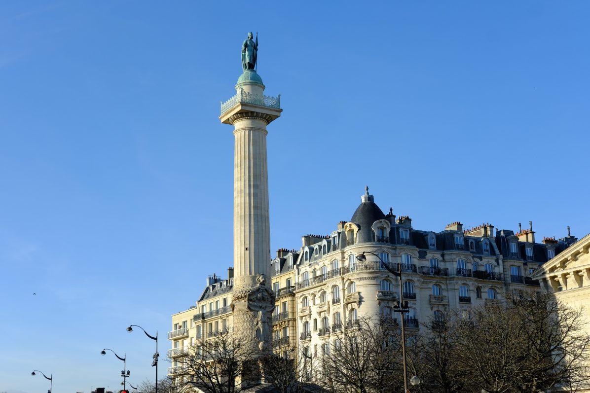 La place de la Nation dans le 20 ème arrondissement