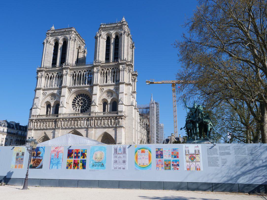 La reconstruction de Notre Dame de Paris, le 2 avril 2021