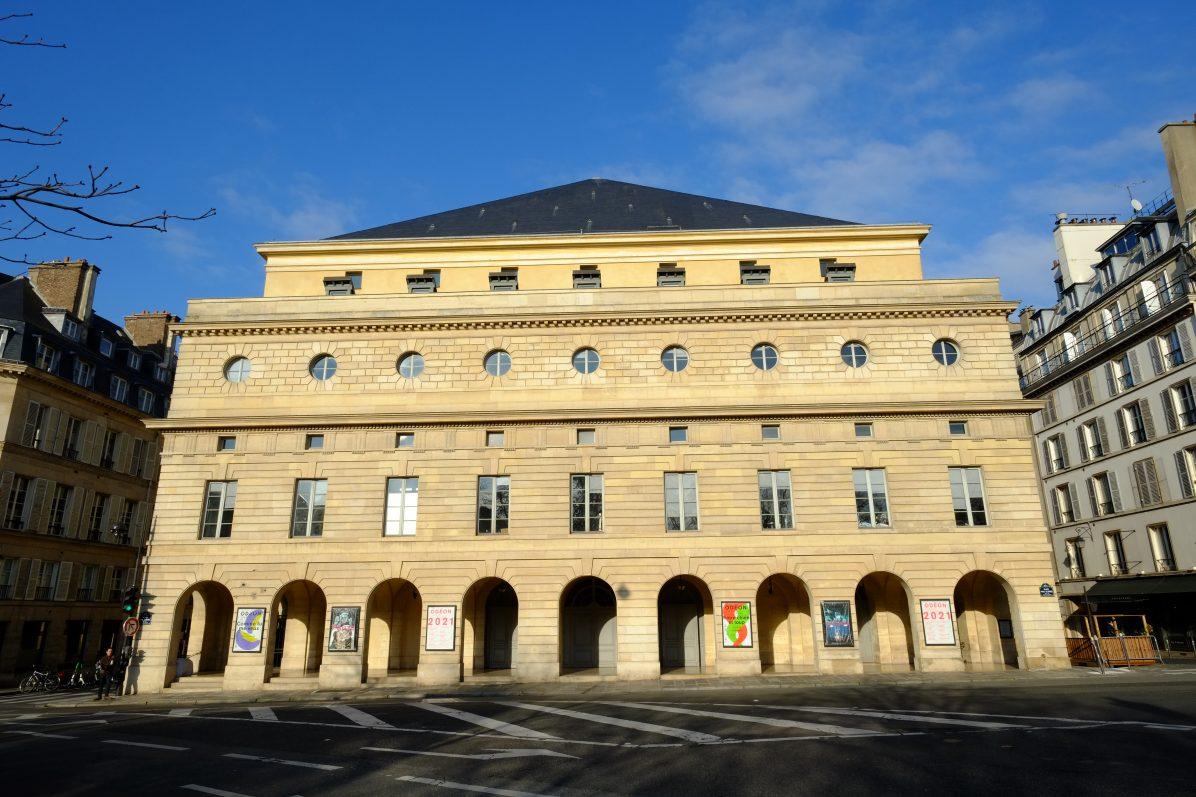 La splendide façade du théâtre de l'Odéon dans le 6 ème