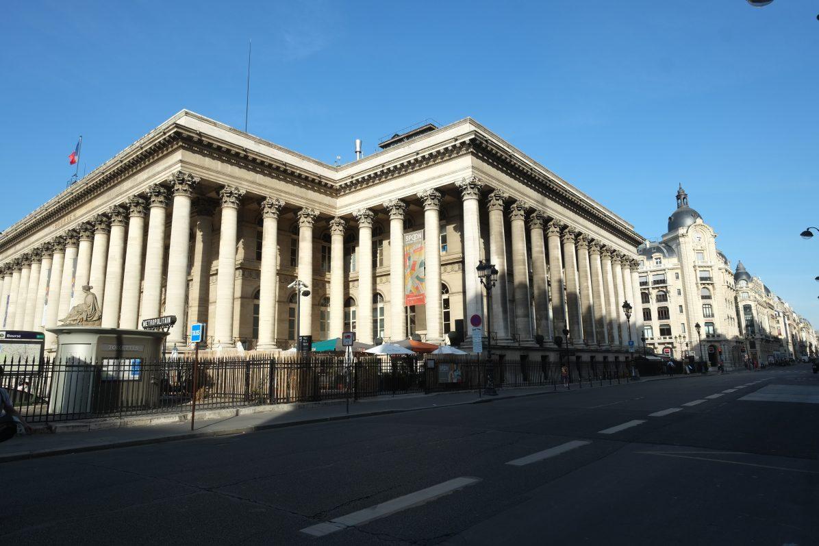 Le Palais Brogniart juste en face de l'AFP