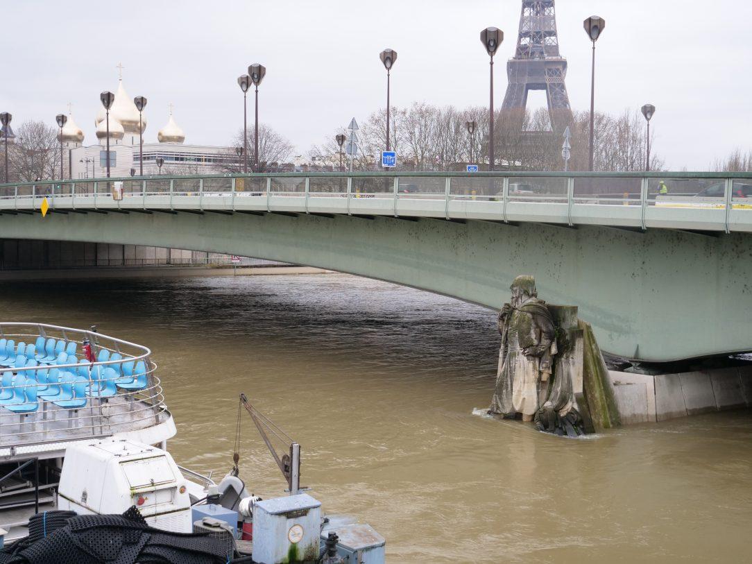 Le fameux zouave du pont de l'Alma, le baromètre des crues de la Seine parisienne