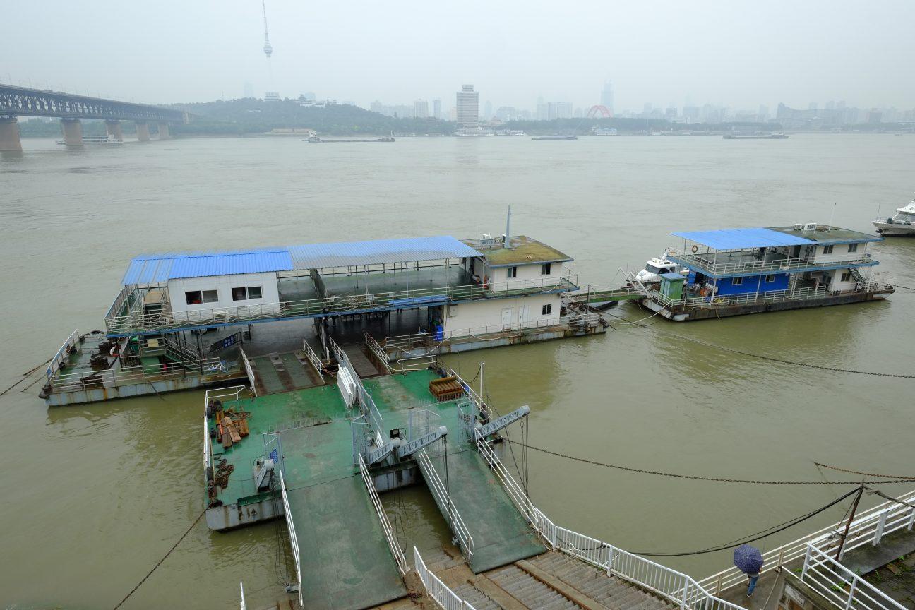 Le fleuve Yang Tsé Kiang à Wuhan