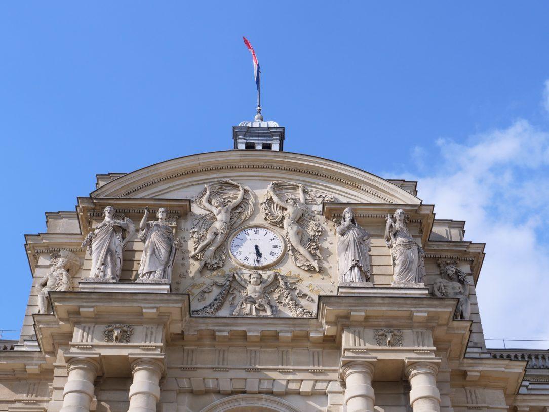 Le fronton du Palais du Luxembourg