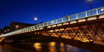 Le pont d'Arcole au crépuscule - Yann Vernerie