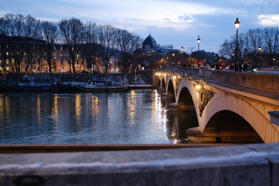 Le pont d'Austerlitz en hiver