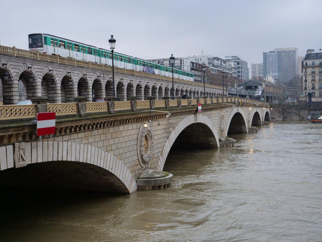 Le pont de Bercy en Février 2021