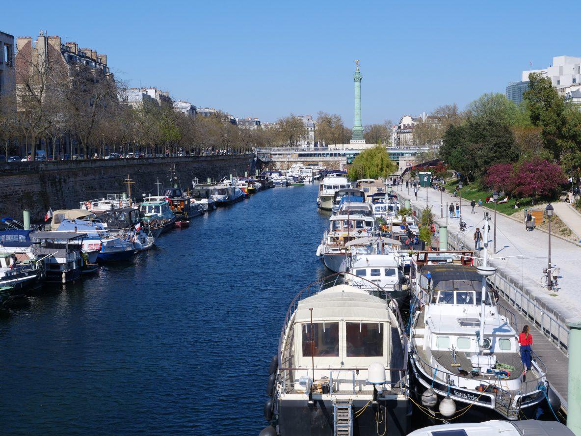 Le port de l'Arsenal au printemps