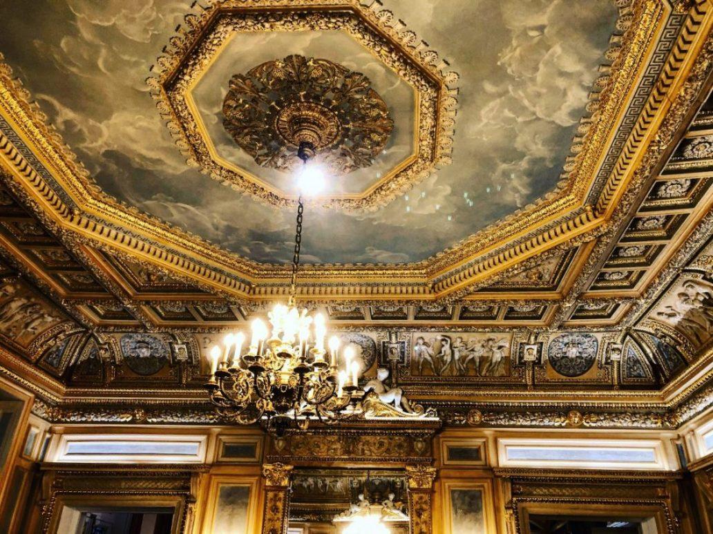Les plafonds du 36 rue Vivienne dans le 2 ème arrondissement de Paris
